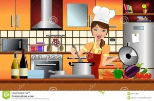 http://www.dreamstime.com/stock-photo-happy-woman-cook-modern-kitchen-image29307950